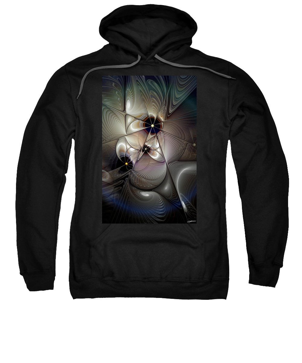 Abstract Sweatshirt featuring the digital art A Question Of Balance by Casey Kotas