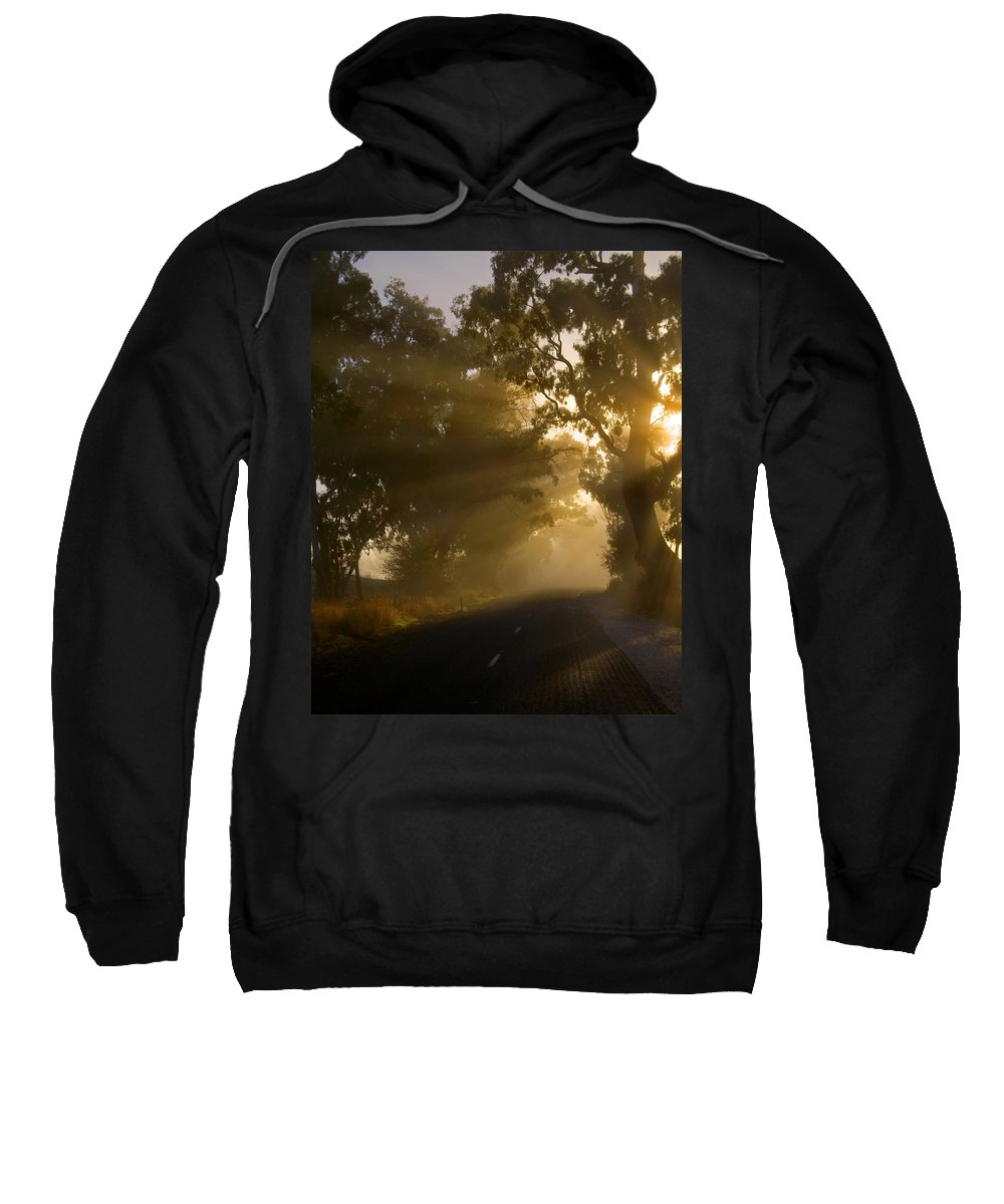 Highway Sweatshirt featuring the photograph A Road Less Traveled by Mike Dawson