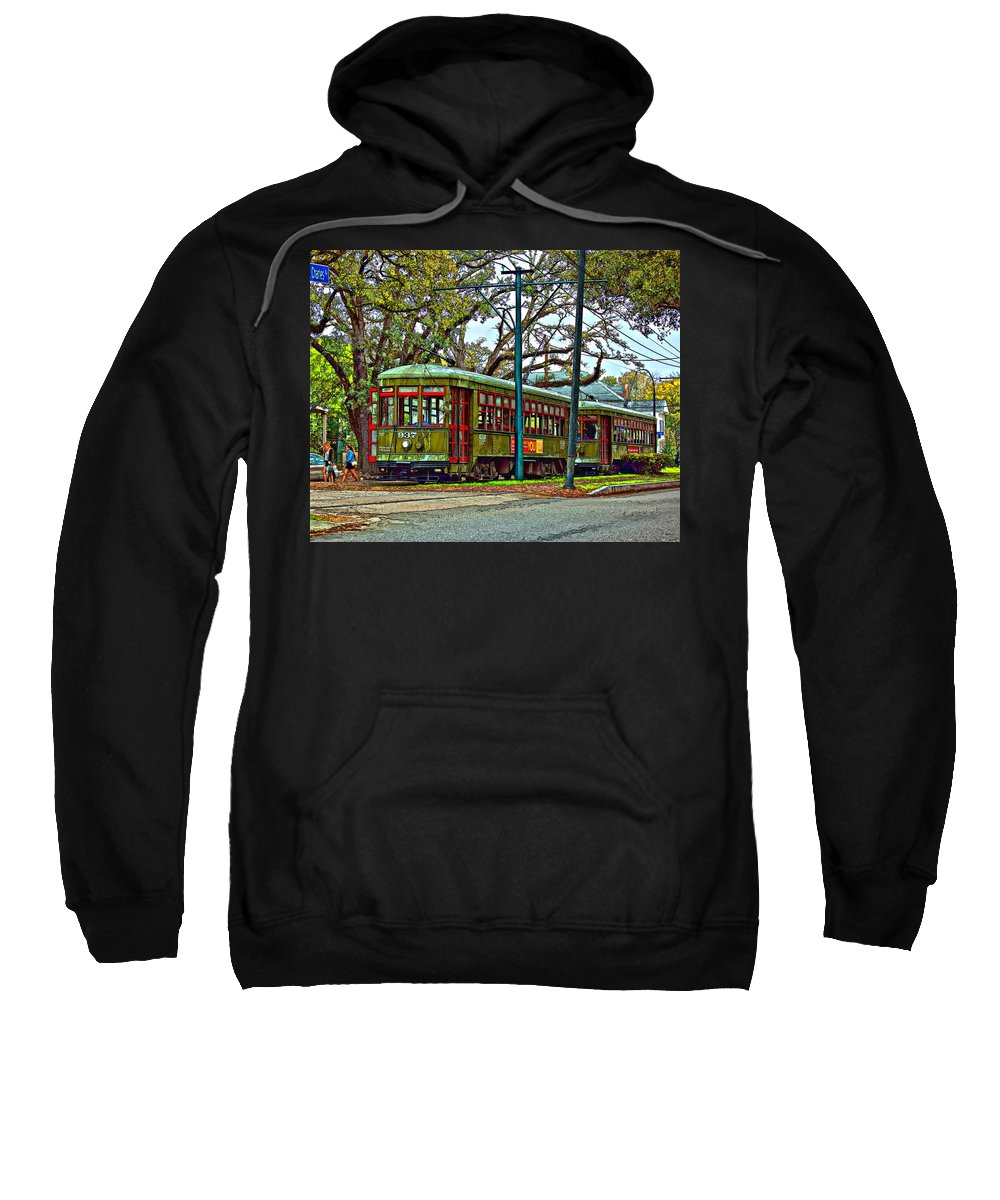 New Orleans Sweatshirt featuring the photograph A Streetcar Named St. Charles by Steve Harrington