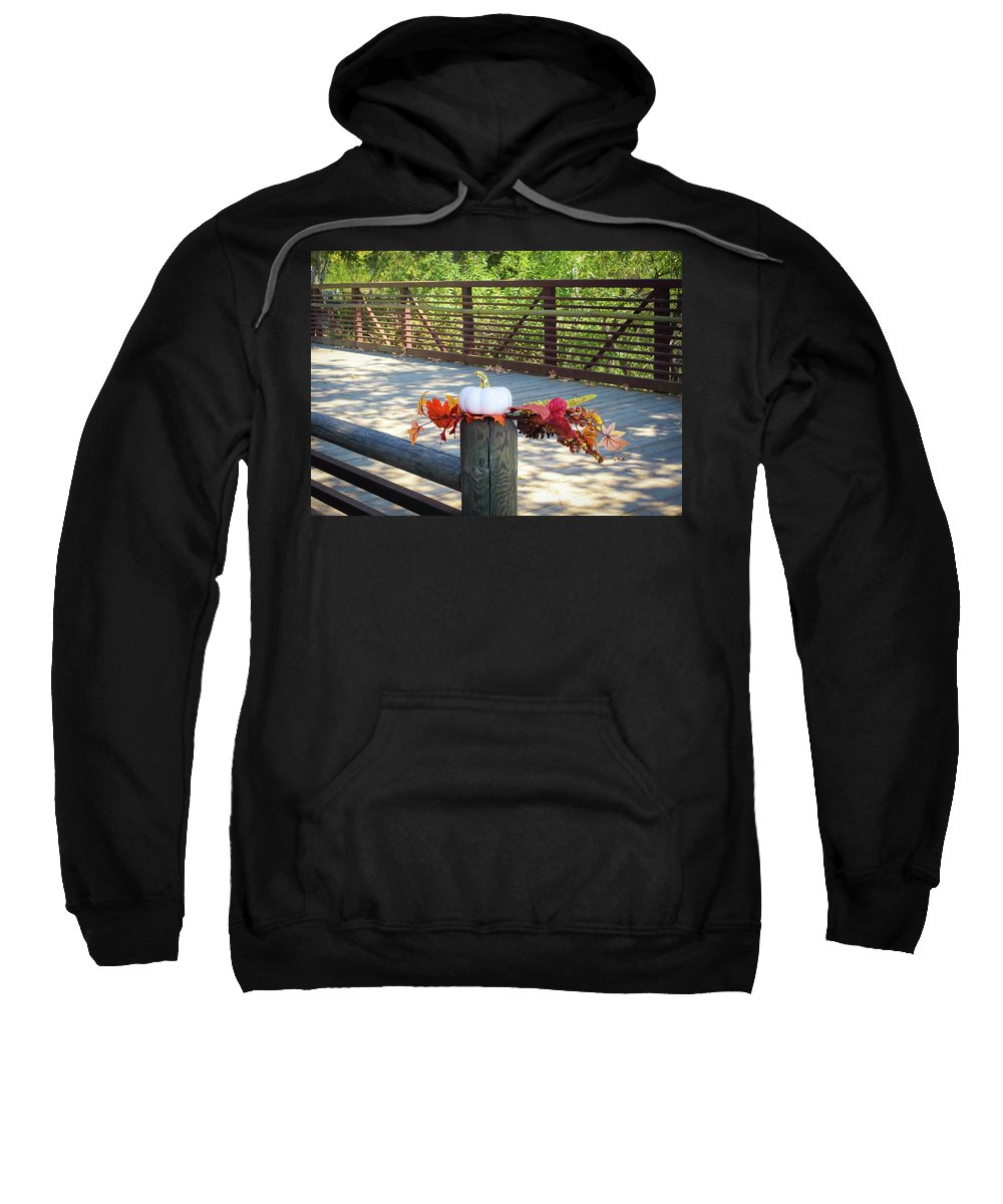 Autumn Sweatshirt featuring the photograph A Touch Of Autumn by Alison Frank