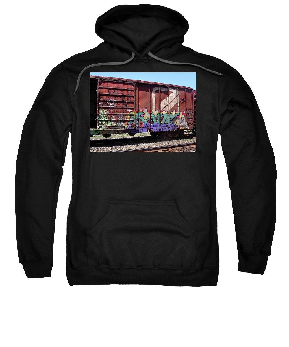 Train Sweatshirt featuring the photograph A Train Car Named Desire by Anne Cameron Cutri