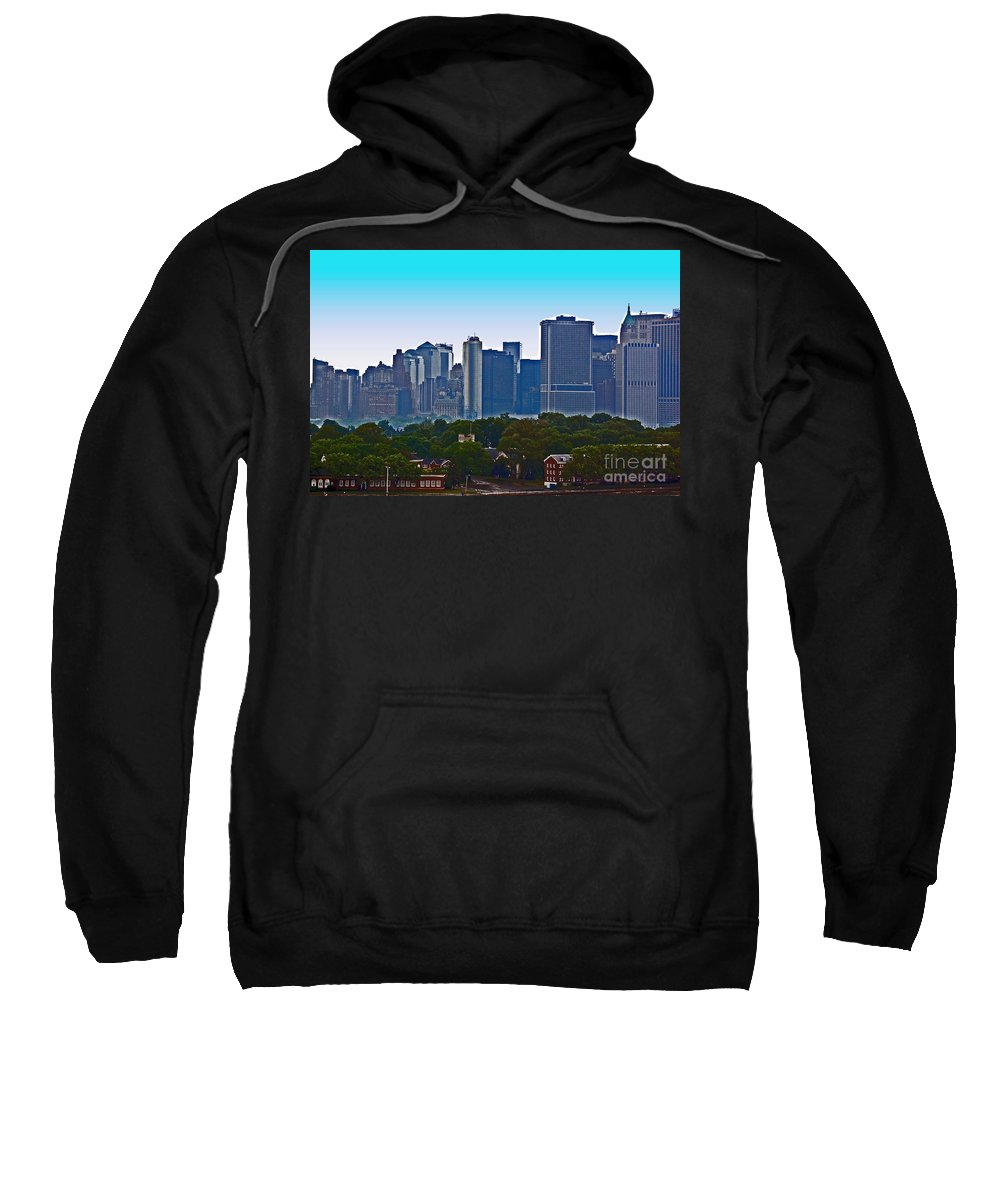 New York Sweatshirt featuring the photograph A Tree Grows In Brooklyn by Debbi Granruth
