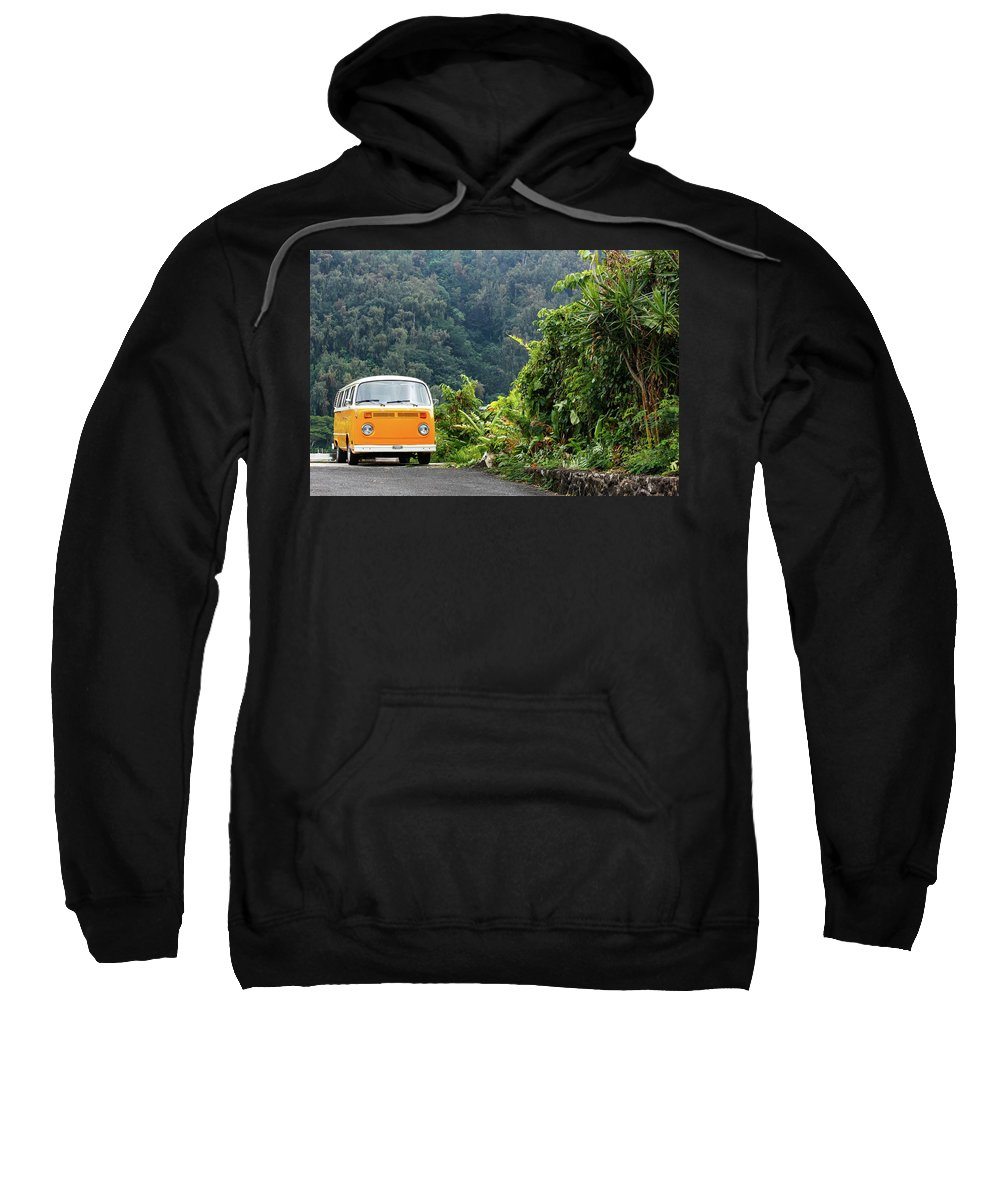 Vw Sweatshirt featuring the photograph A Van Alone by Nick Mattea
