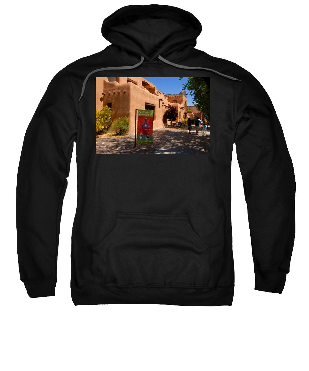 New Mexico Museum Of Art Sweatshirt featuring the painting A Visit To The Museum by David Lee Thompson