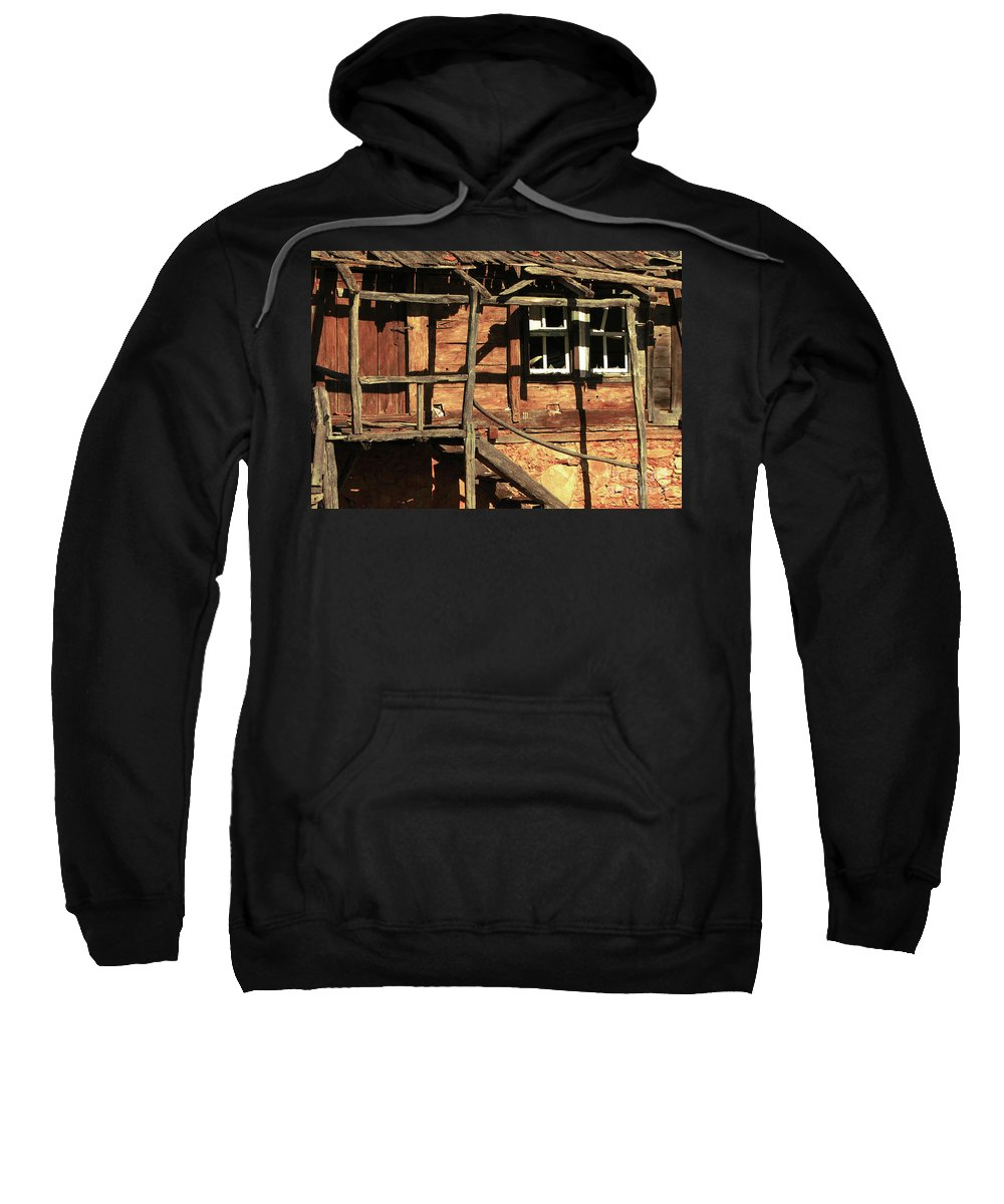 Home Sweatshirt featuring the photograph Abandoned Home by Christo Christov