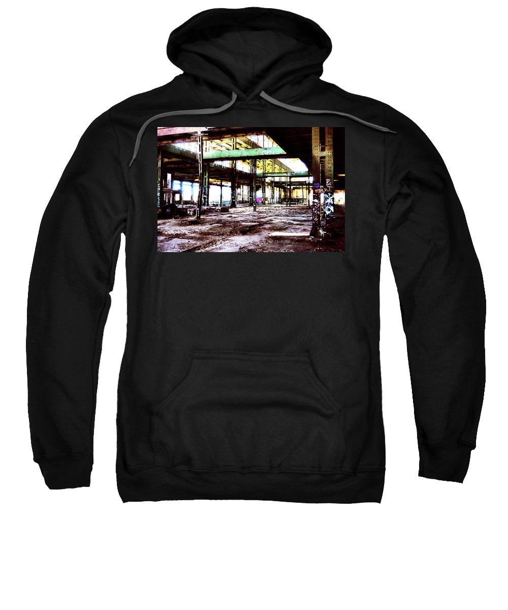 Graffiti Sweatshirt featuring the photograph Abandoned Industry by Phill Petrovic