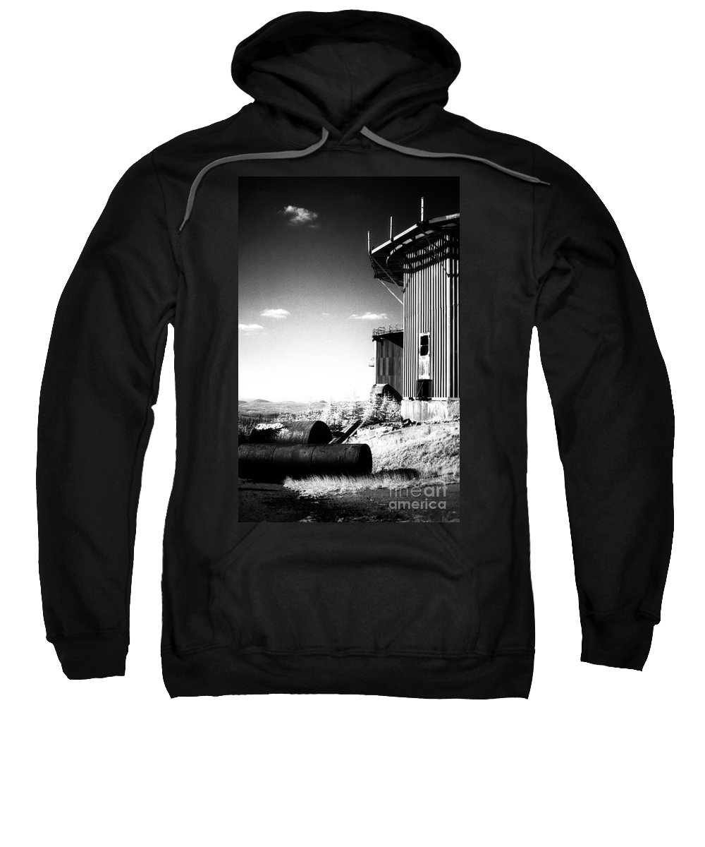 Abandoned Sweatshirt featuring the photograph Abandoned Radar by Richard Rizzo