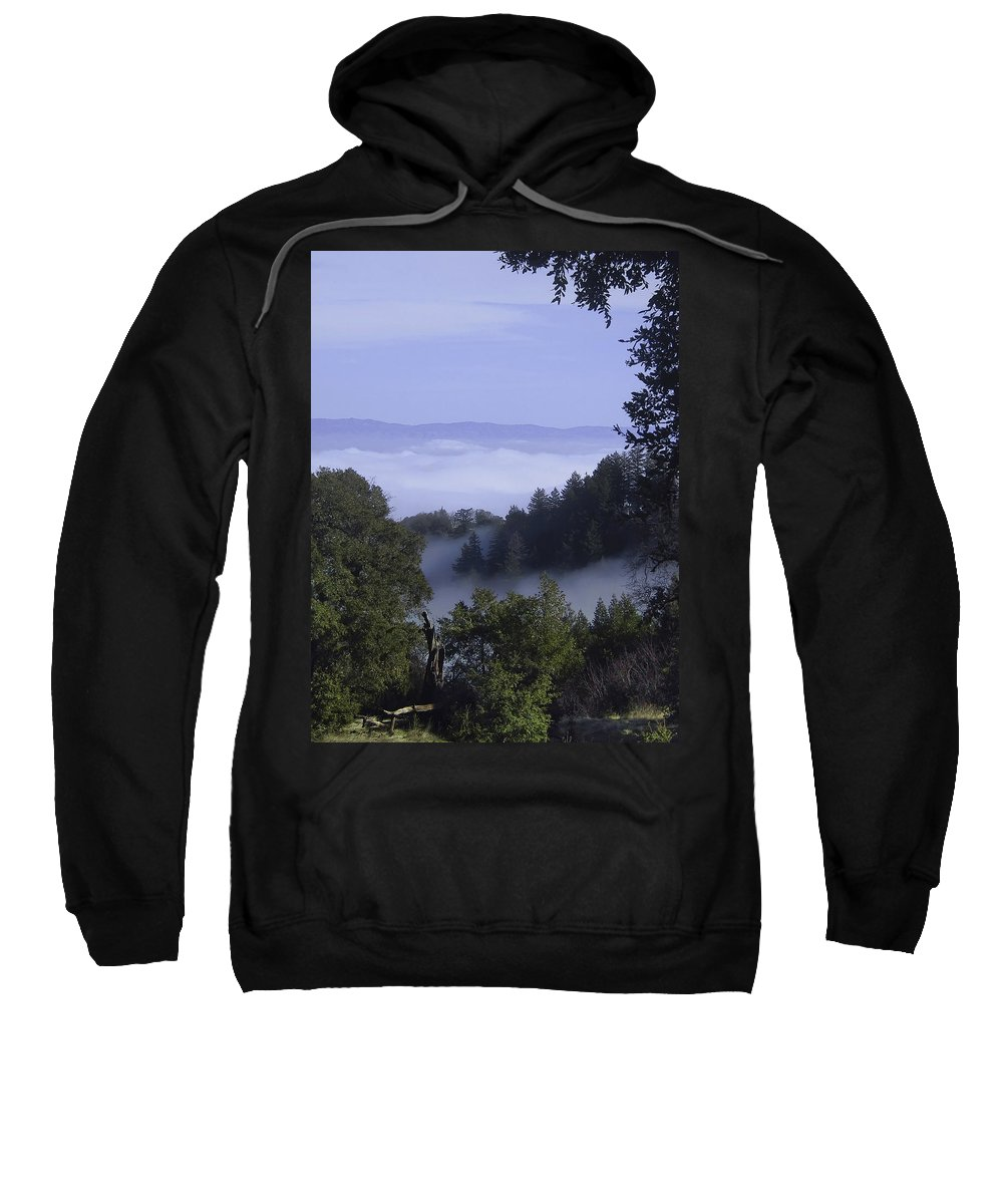Lalndscape Sweatshirt featuring the photograph Above The Clouds by Karen W Meyer