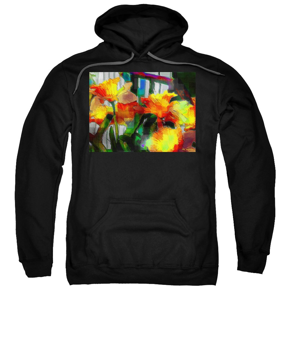 Absinthe Sweatshirt featuring the painting Absinthe Daffies by RC DeWinter