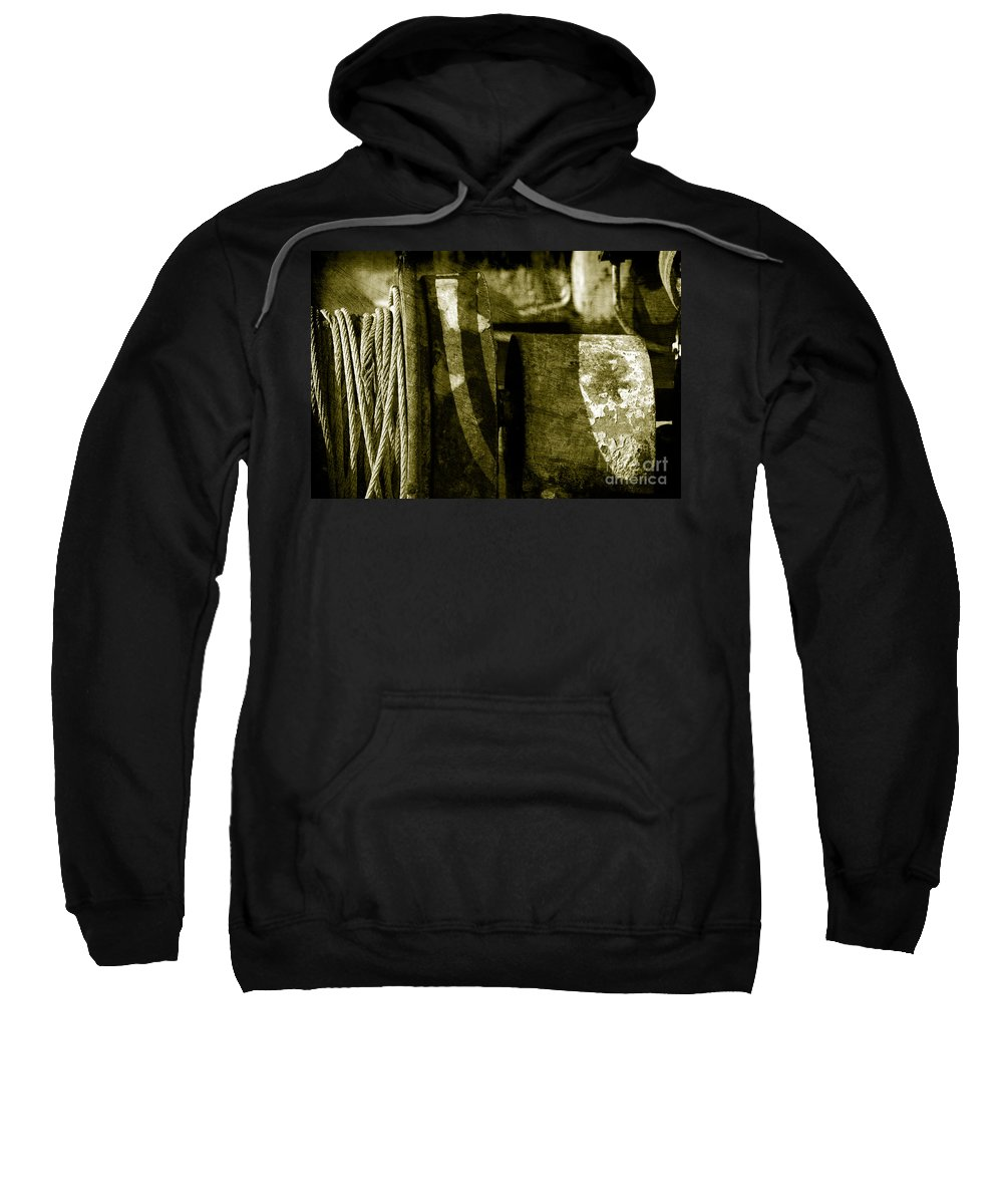 Rust Sweatshirt featuring the photograph Abstract - 3 by Susanne Van Hulst