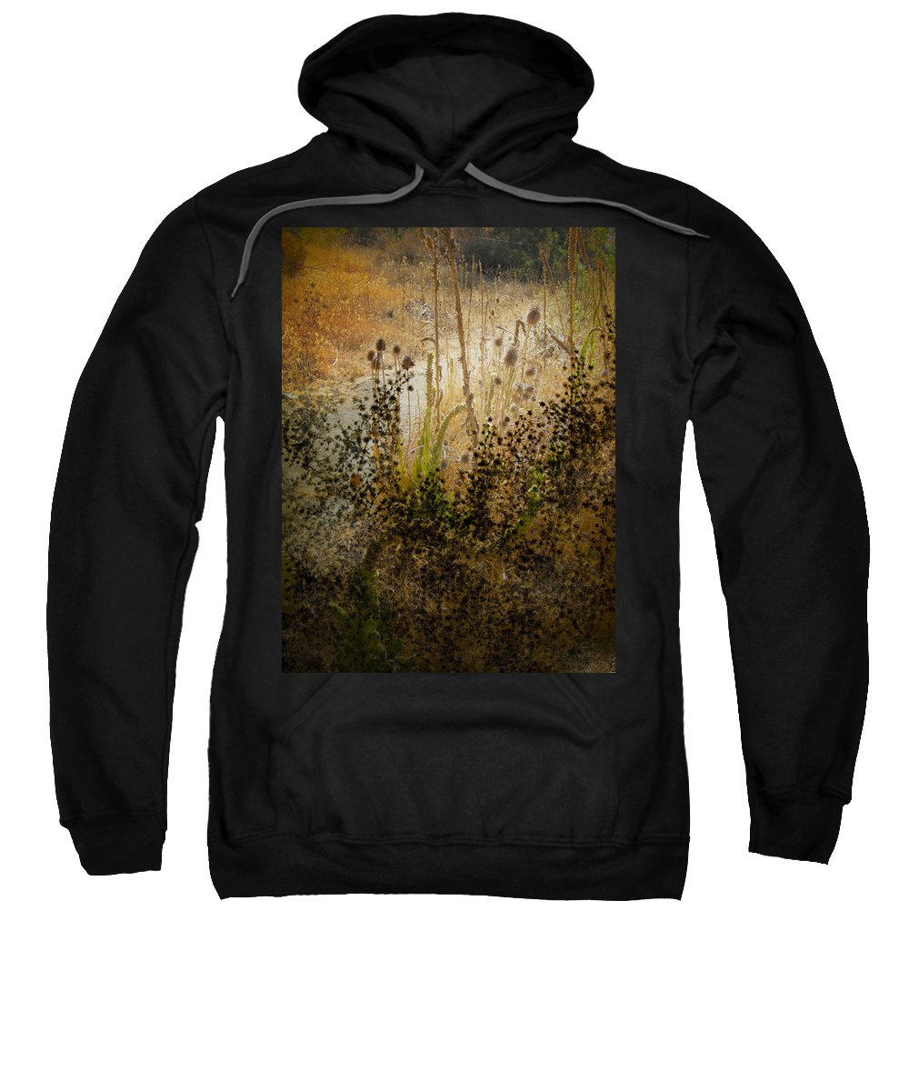 Landscape Sweatshirt featuring the photograph Abstract - Burning Bush by Karen W Meyer