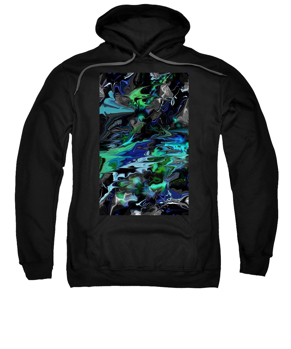 Abstract Sweatshirt featuring the digital art Abstract 011211 by David Lane
