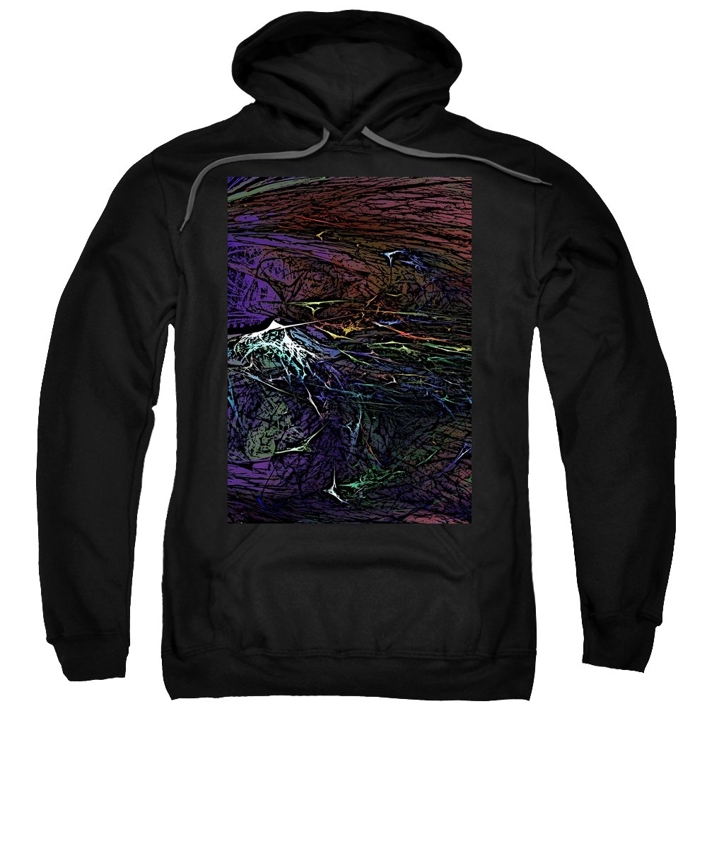 Abstracts Sweatshirt featuring the digital art Abstract 030211 by David Lane