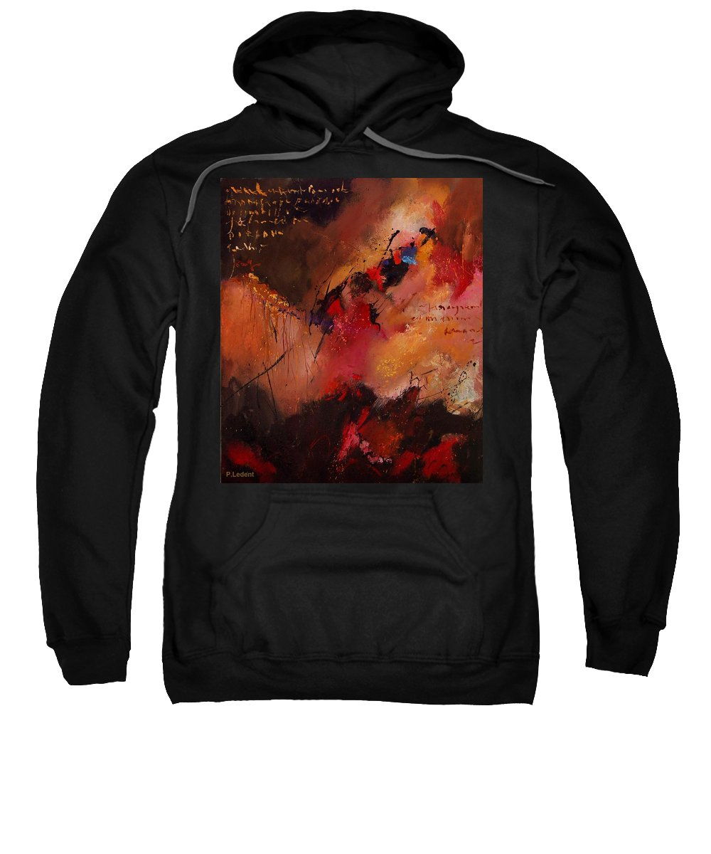 Abstract Sweatshirt featuring the painting Abstract 0408 by Pol Ledent