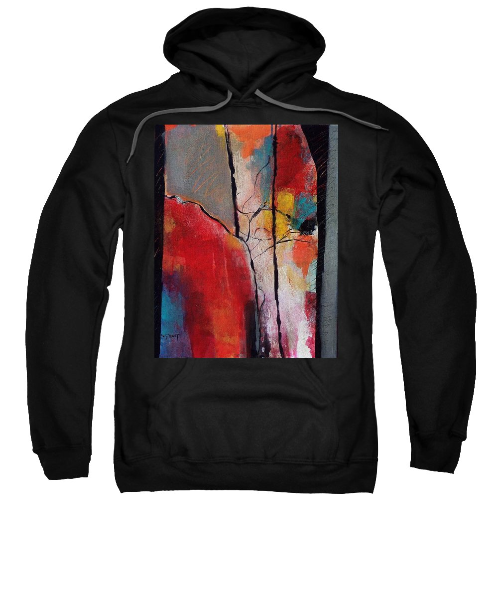 Abstract Expressionism Sweatshirt featuring the painting Abstract 050 by Donna Frost