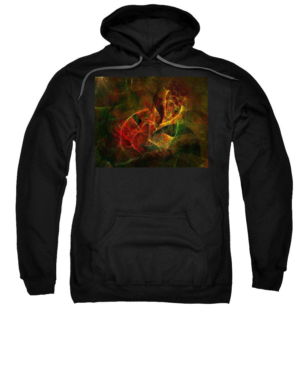 Fine Art Sweatshirt featuring the digital art Abstract 051011 by David Lane