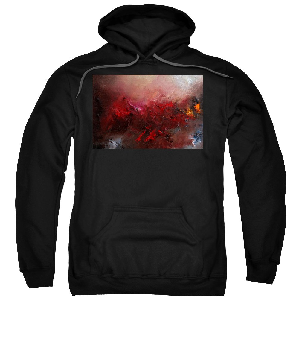 Abstract Sweatshirt featuring the painting Abstract 056 by Pol Ledent