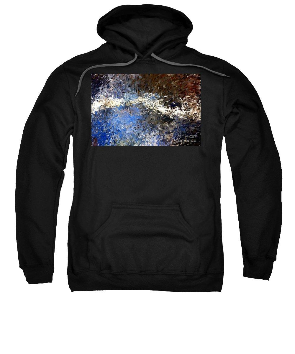 Abstract Sweatshirt featuring the digital art Abstract 06-03-09b by David Lane