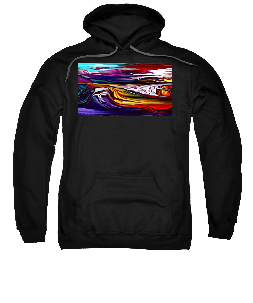 Abstract Sweatshirt featuring the digital art Abstract 06-12-09 by David Lane