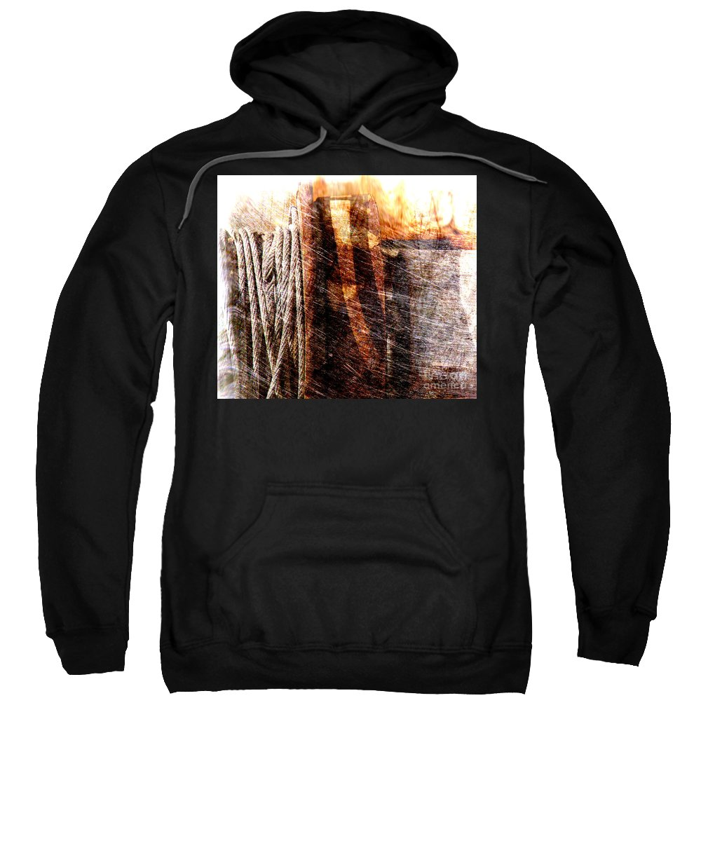 Rust Sweatshirt featuring the photograph Abstract 1 by Susanne Van Hulst