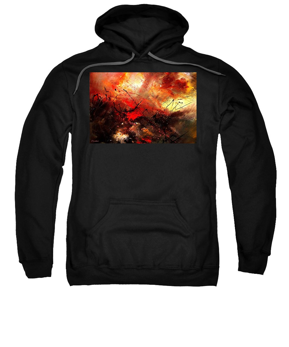 Abstract Sweatshirt featuring the painting Abstract 100202 by Pol Ledent