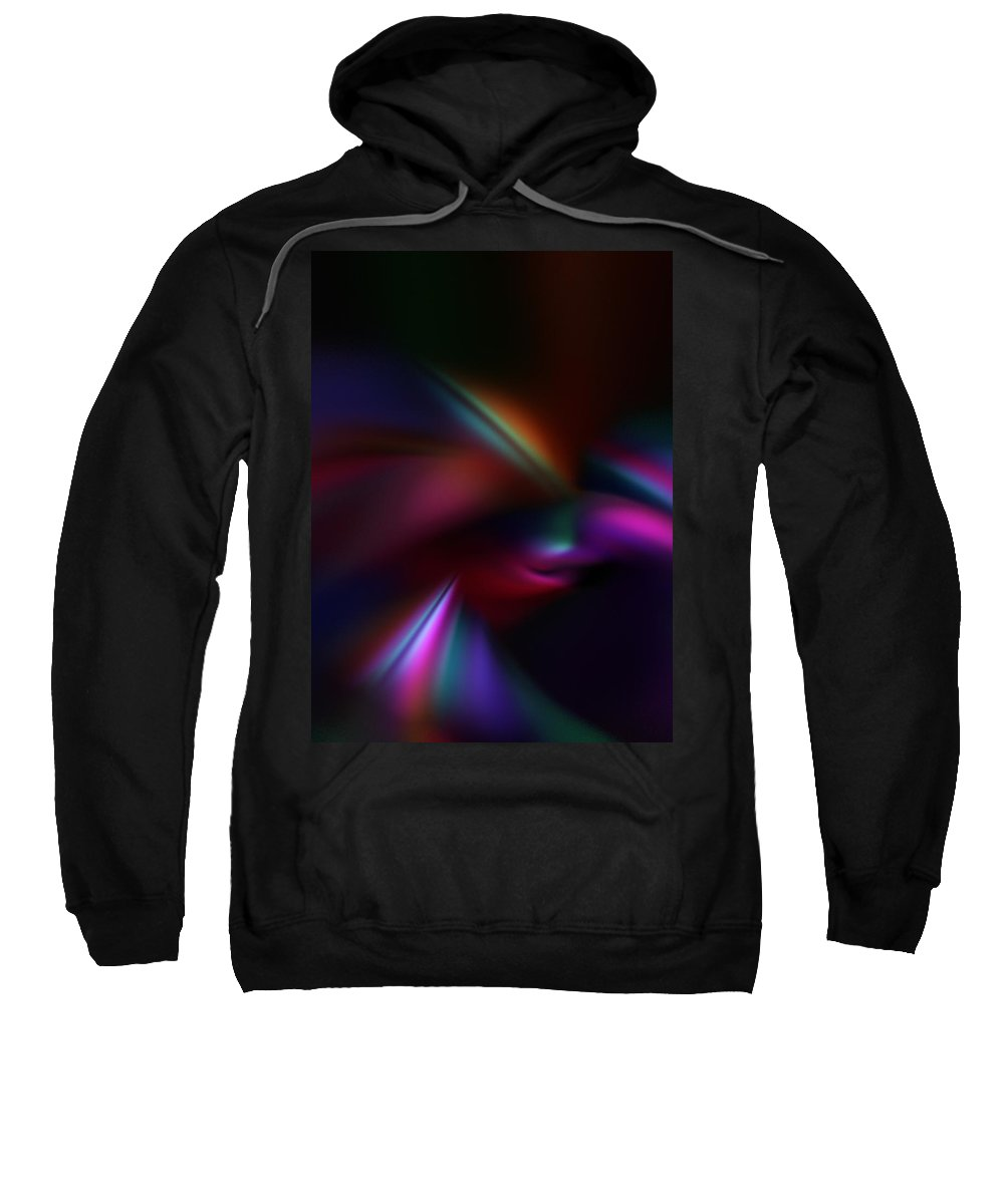 Abstract Digital Painting Sweatshirt featuring the digital art Abstract 11-08-09 by David Lane