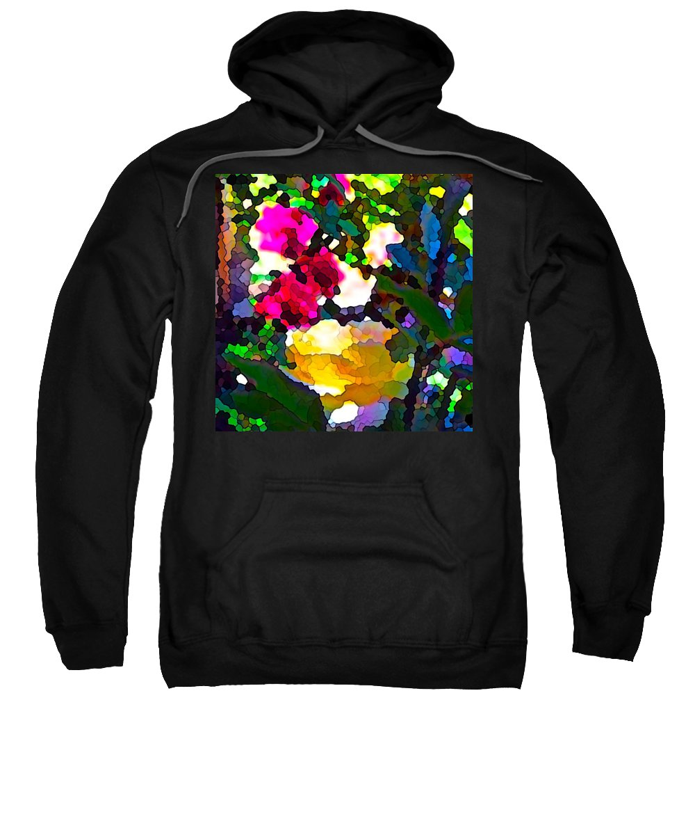 Abstract Sweatshirt featuring the photograph Abstract 140 by Pamela Cooper