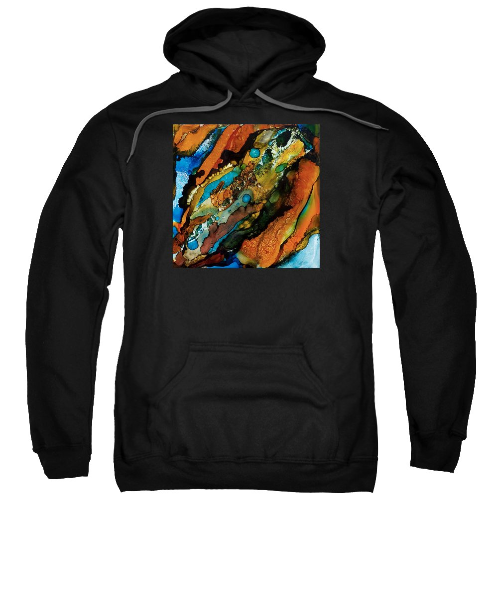 Modern Sweatshirt featuring the painting Abstract 17 by A And K Art Studio