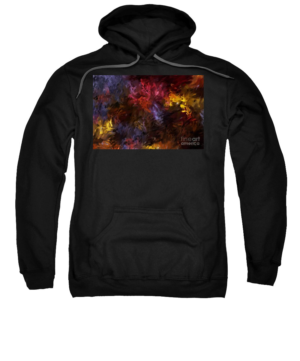 Abstract Sweatshirt featuring the digital art Abstract 5-23-09 by David Lane