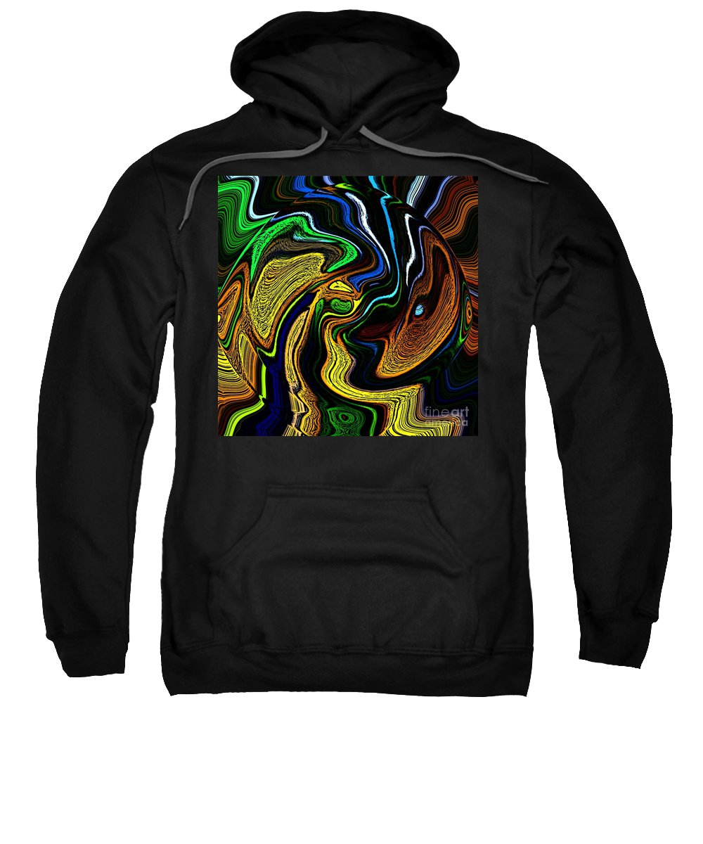 Abstract Sweatshirt featuring the digital art Abstract 6-10-09-a by David Lane