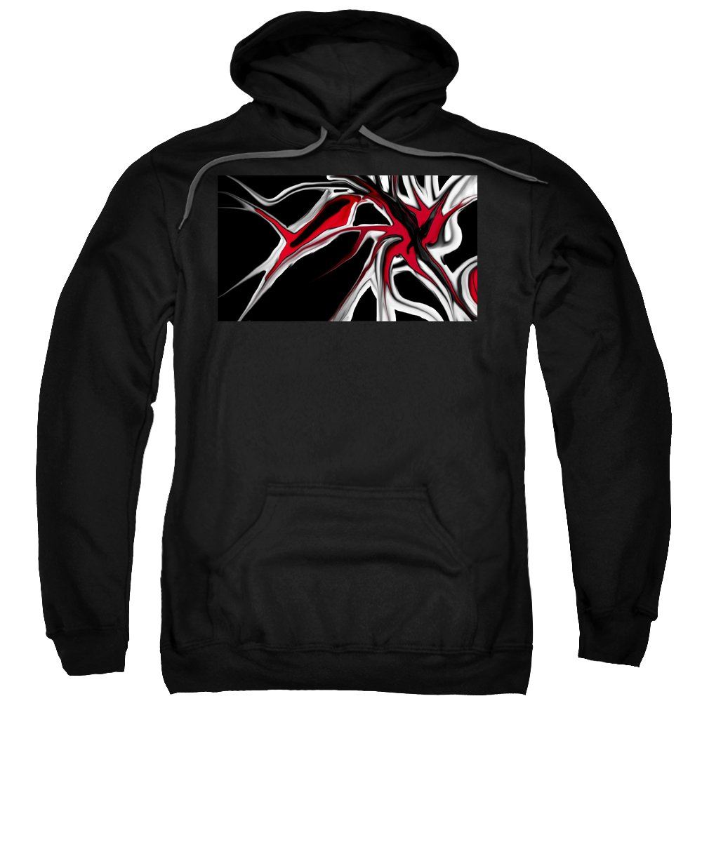 Abstract Sweatshirt featuring the digital art Abstract 6-14-09 by David Lane