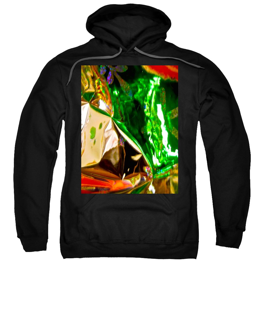 Green Sweatshirt featuring the photograph Abstract 6135 by Stephanie Moore