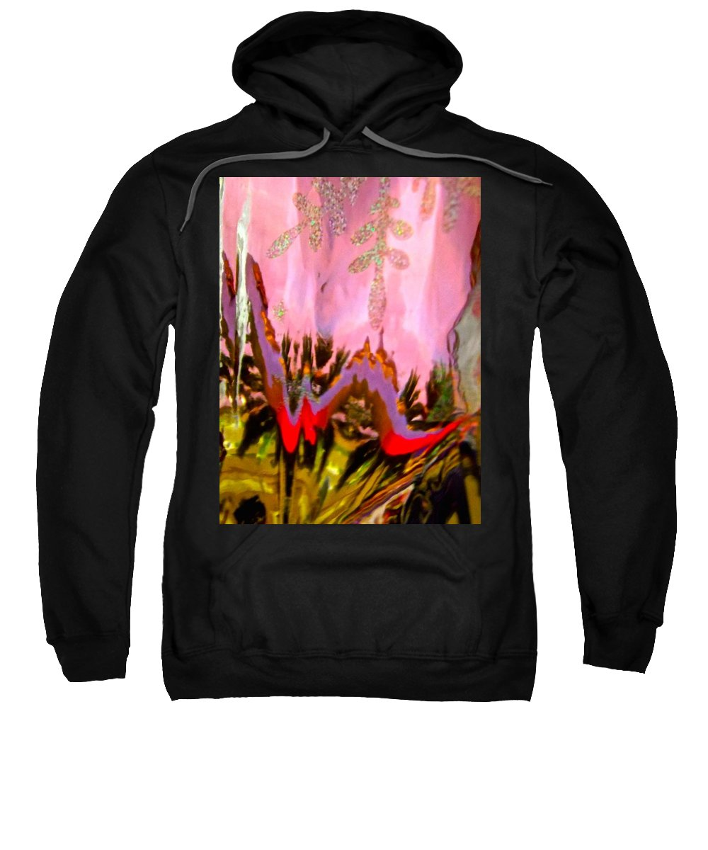 Pink Sweatshirt featuring the photograph Abstract 6137 by Stephanie Moore