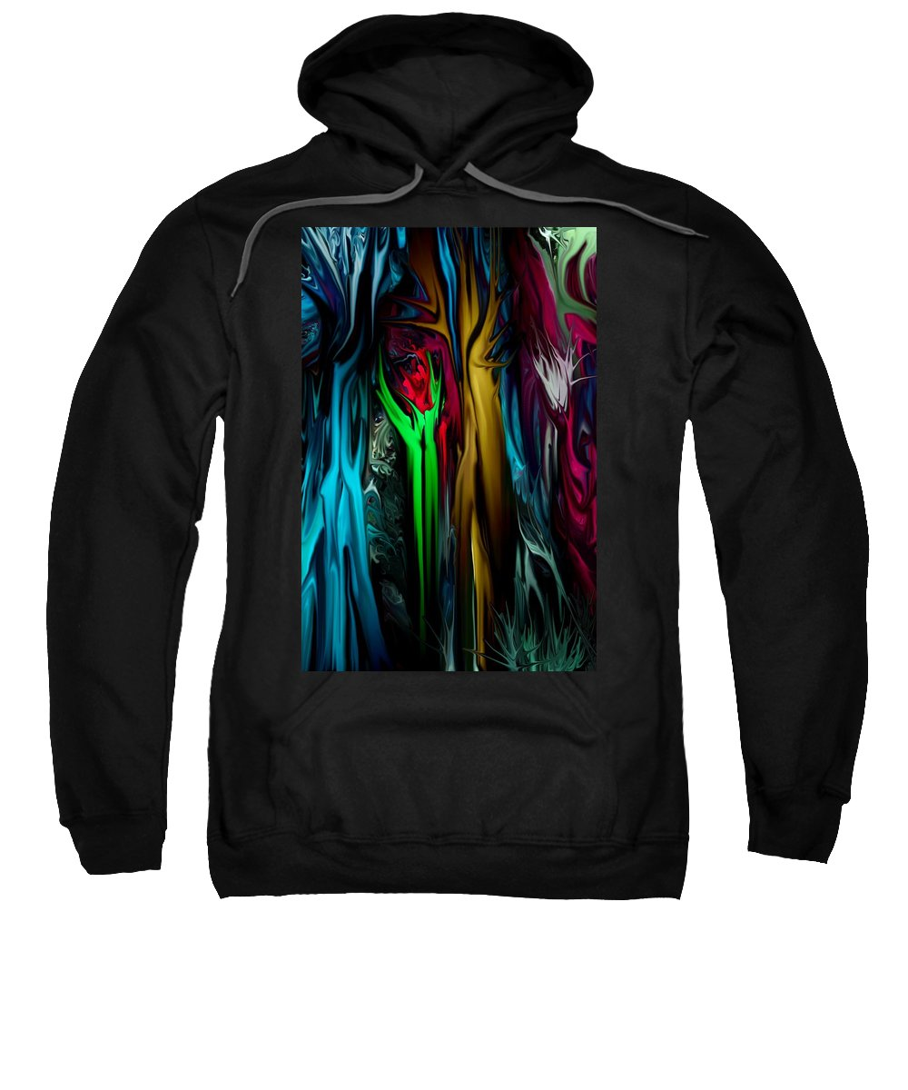 Abstract Sweatshirt featuring the digital art Abstract 7-09-09 by David Lane