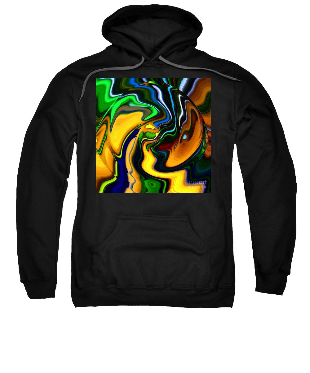 Abstract Sweatshirt featuring the digital art Abstract 7-10-09 by David Lane