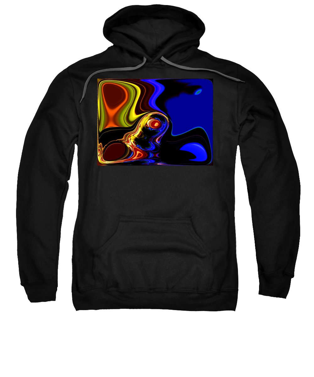 Abstract Sweatshirt featuring the digital art Abstract 7-26-09 by David Lane