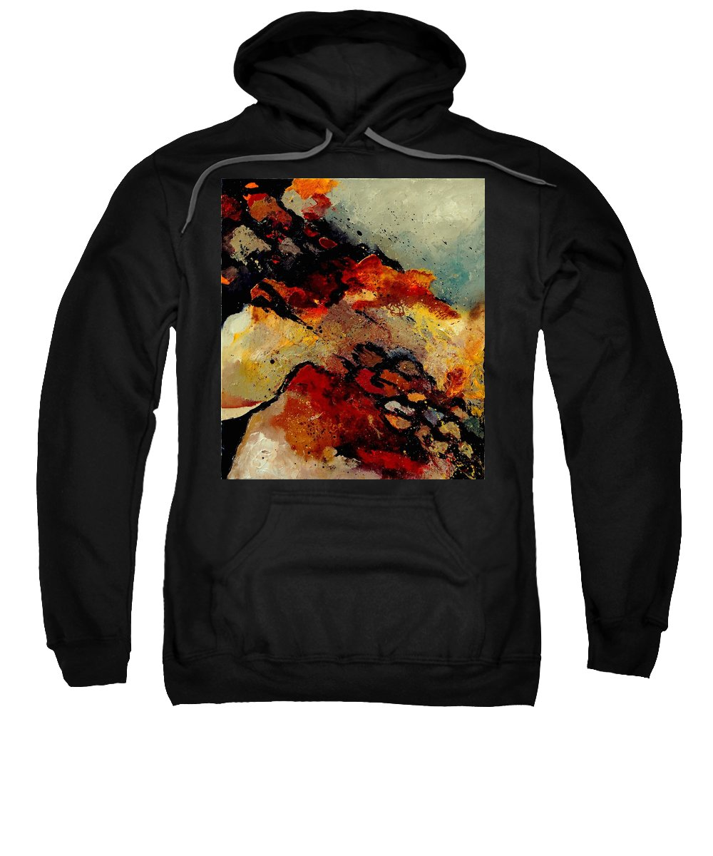 Abstract Sweatshirt featuring the painting Abstract 780707 by Pol Ledent