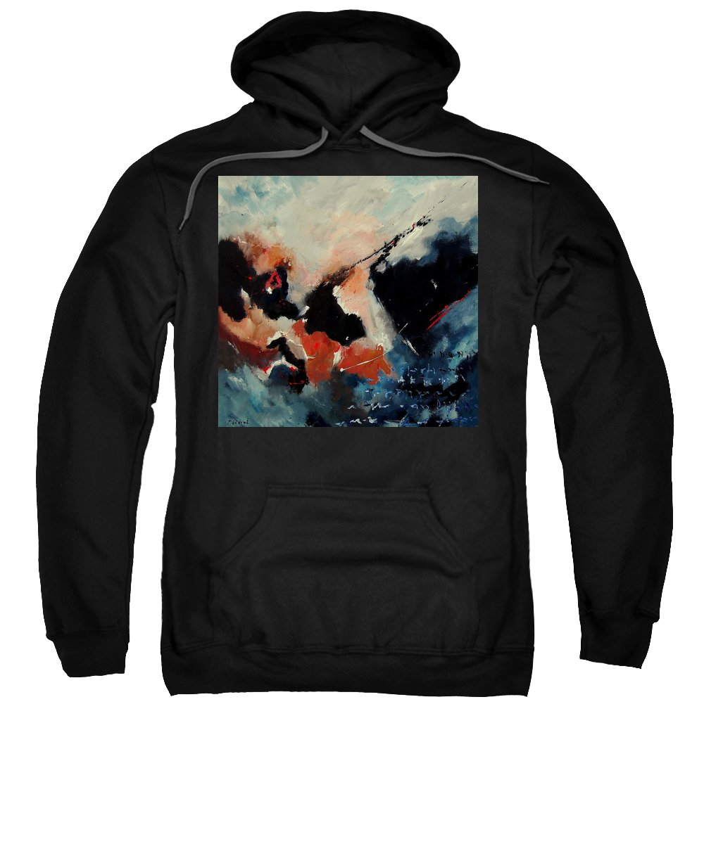 Abstract Sweatshirt featuring the painting Abstract 88012090 by Pol Ledent