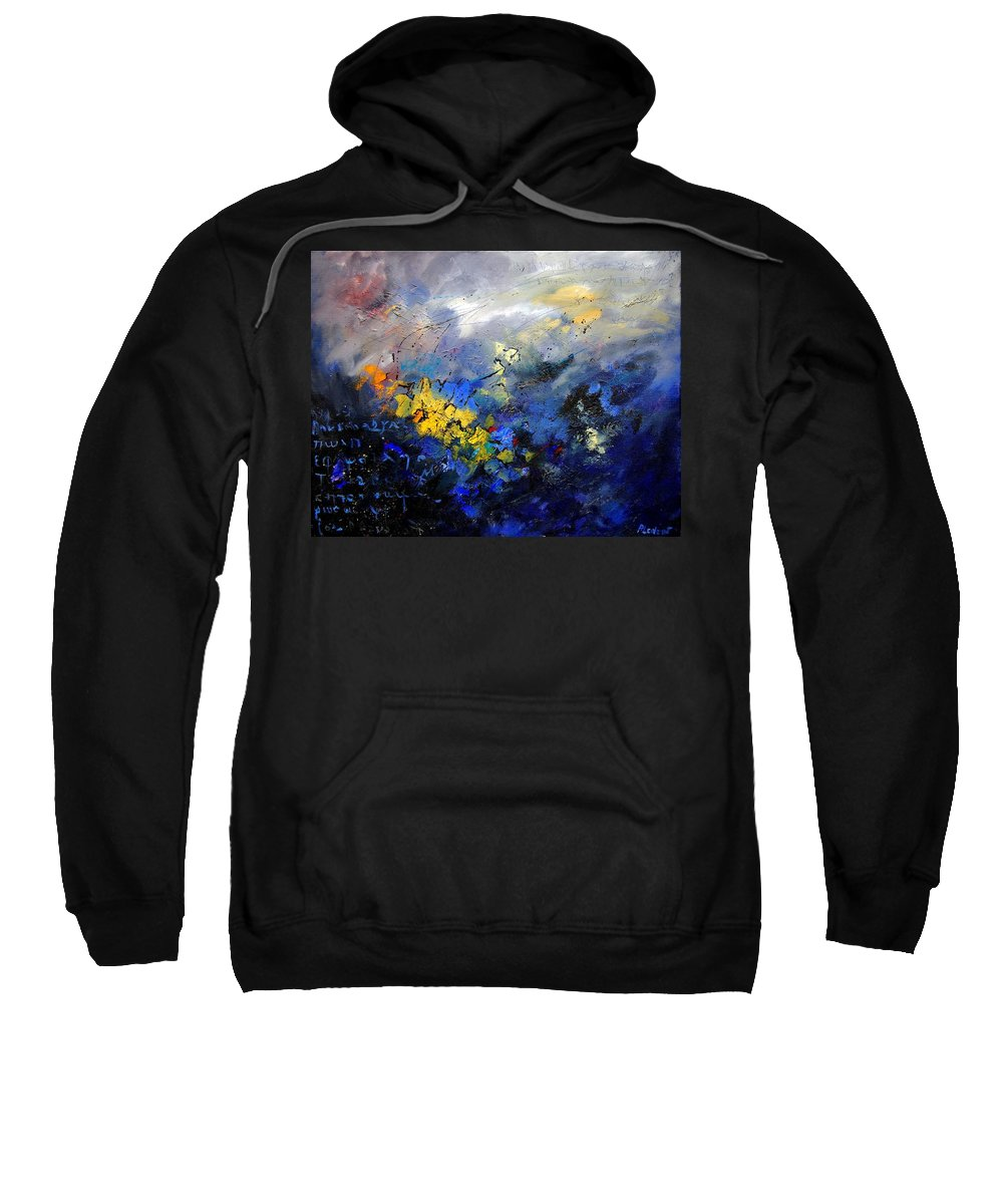 Abstract Sweatshirt featuring the painting Abstract 970208 by Pol Ledent