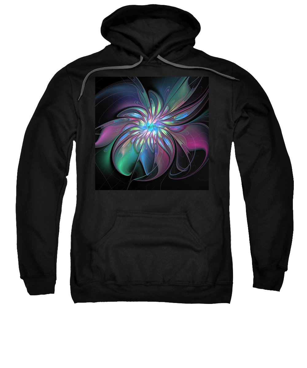 Abstract Sweatshirt featuring the digital art Abstract Fantasy by Gabiw Art