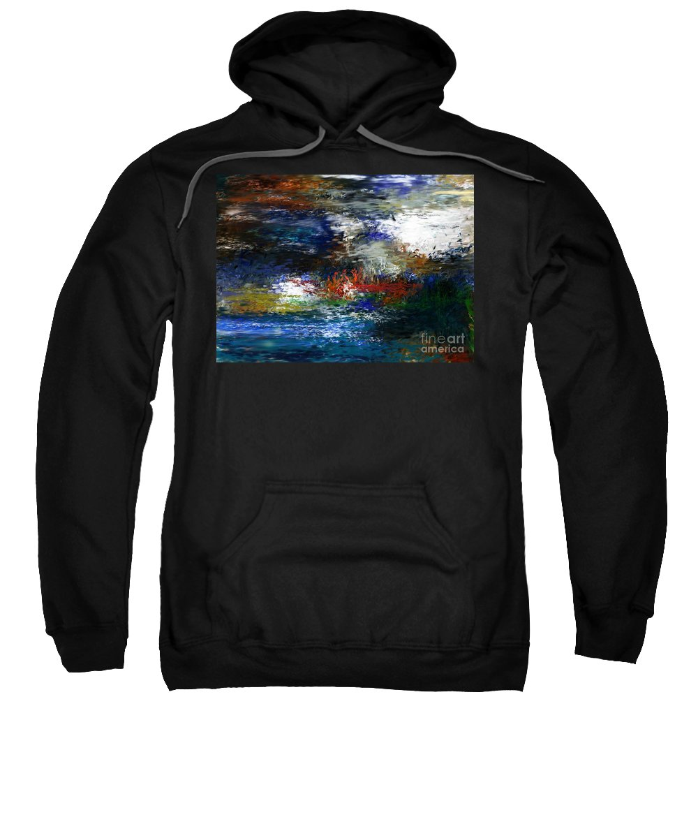 Abstract Sweatshirt featuring the digital art Abstract Impression 5-9-09 by David Lane