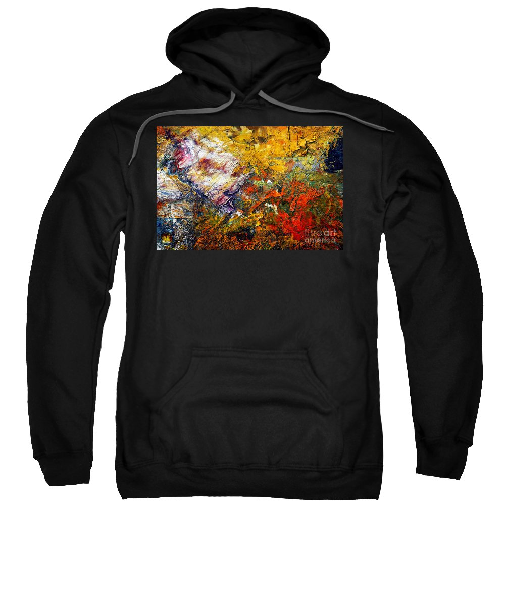 Abstract Sweatshirt featuring the painting Abstract by Michal Boubin