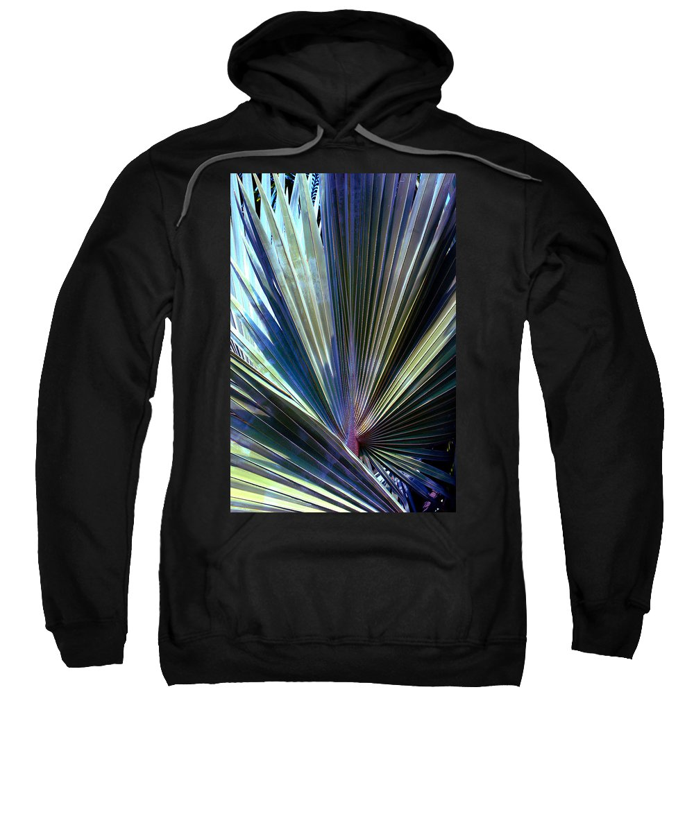 Palm Leaf Sweatshirt featuring the photograph Abstract Palm Leaf by Susanne Van Hulst