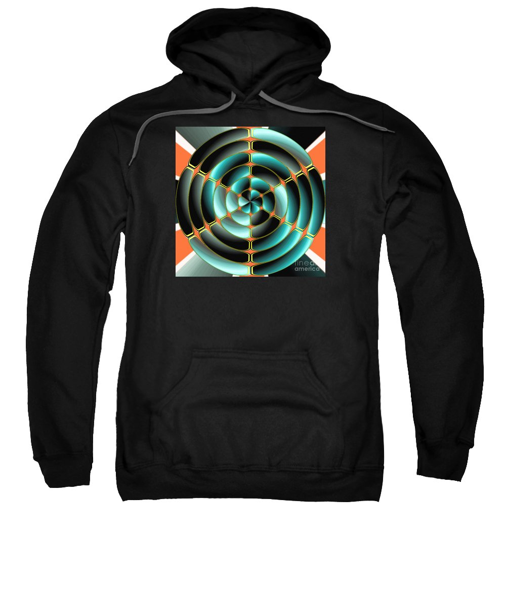 Plastic Sweatshirt featuring the digital art Abstract Radial Object by Gaspar Avila