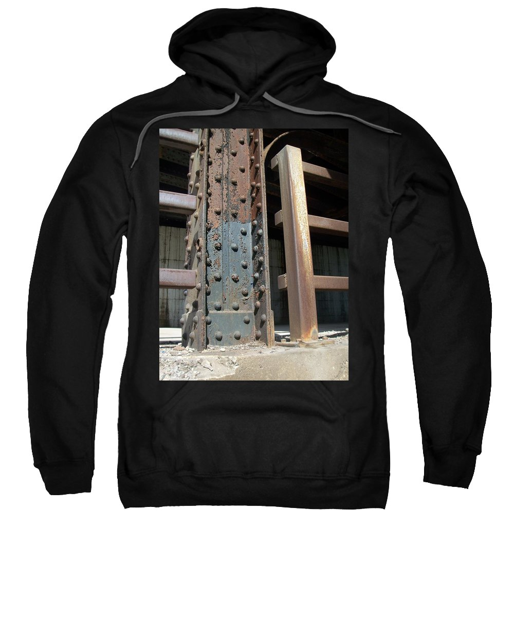Urban Sweatshirt featuring the photograph Abstract Rust 1 by Anita Burgermeister