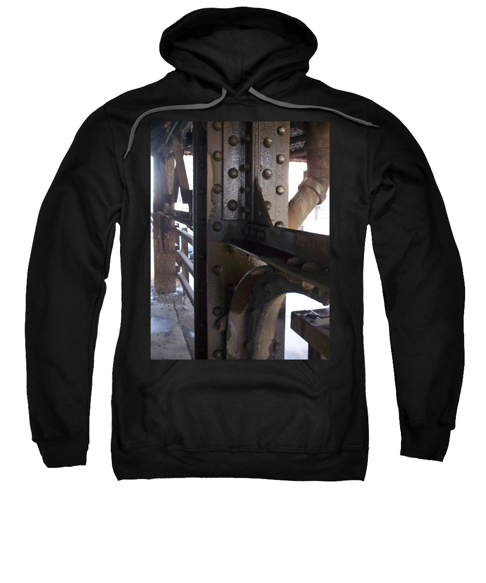 Industrial Sweatshirt featuring the photograph Abstract Rust 5 by Anita Burgermeister