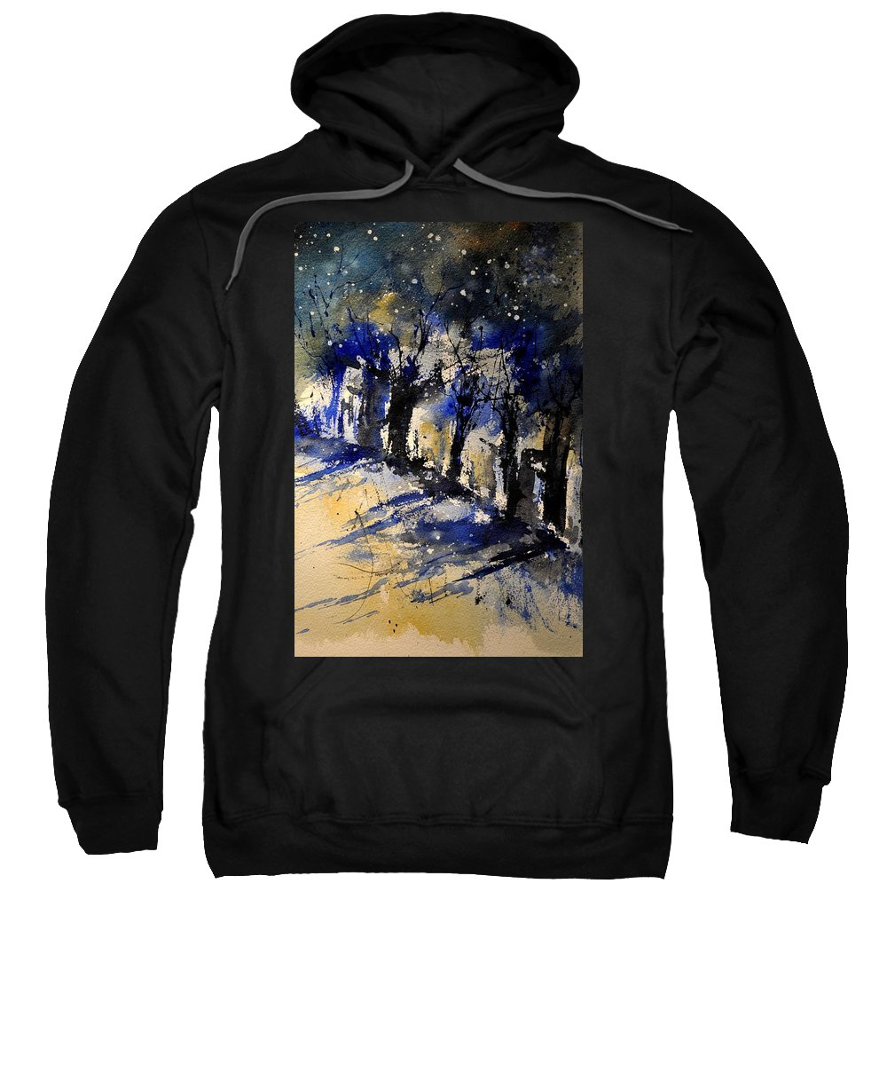 Abstract Sweatshirt featuring the painting Abstract Trees by Pol Ledent