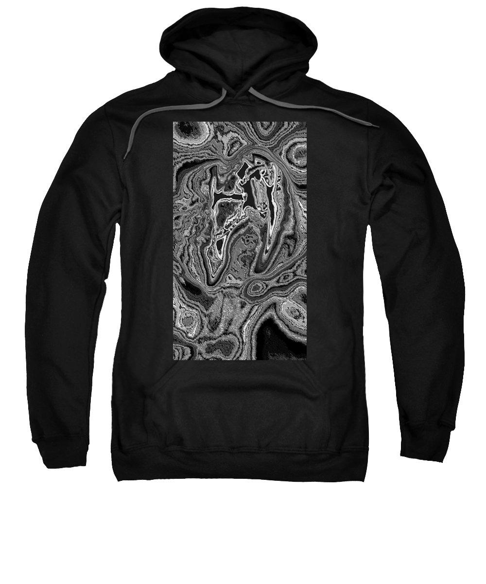 Digital Art Sweatshirt featuring the digital art Abstract Tulip 3 by Belinda Cox