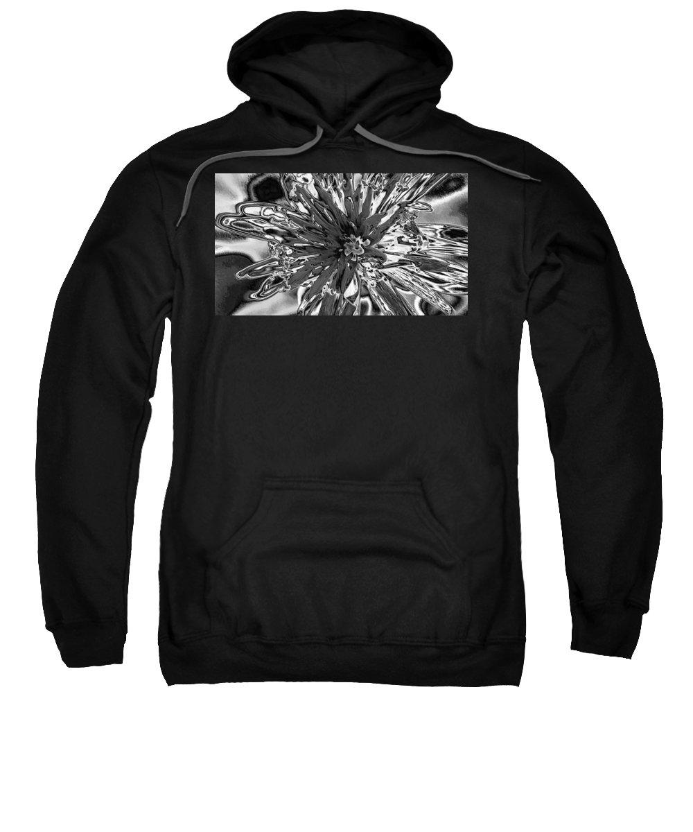 Digital Art Sweatshirt featuring the digital art Abstract Wildflower 10 by Belinda Cox