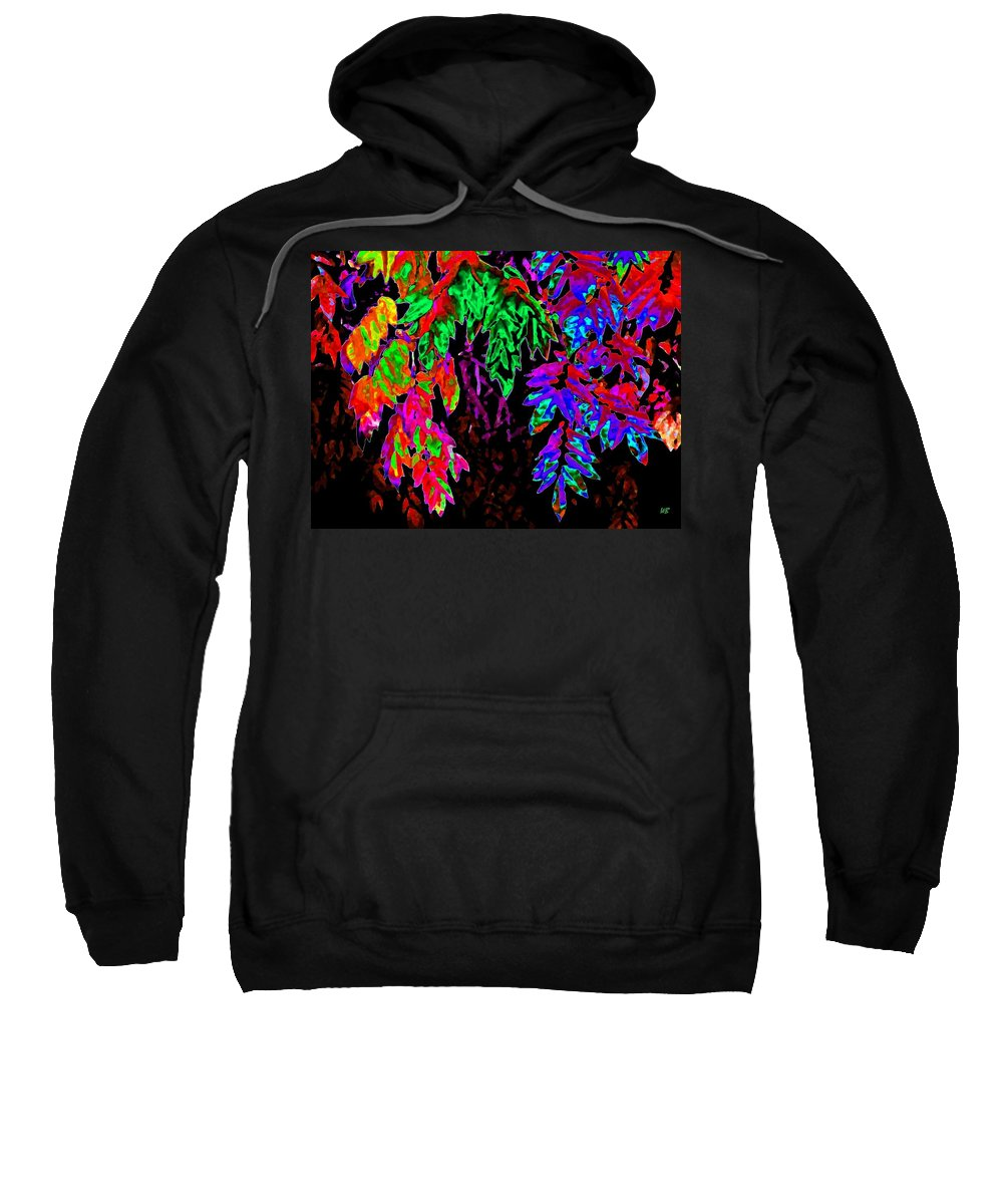 Abstract Sweatshirt featuring the digital art Abstract Wisteria by Will Borden